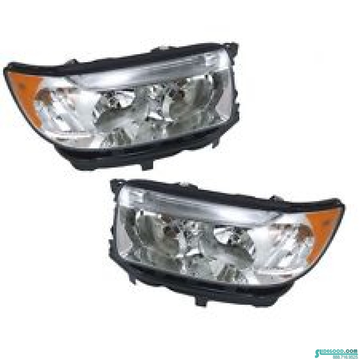 2006 2008 Subaru Forester Rh Penger And Lh Driver Side Halogen Headlights New