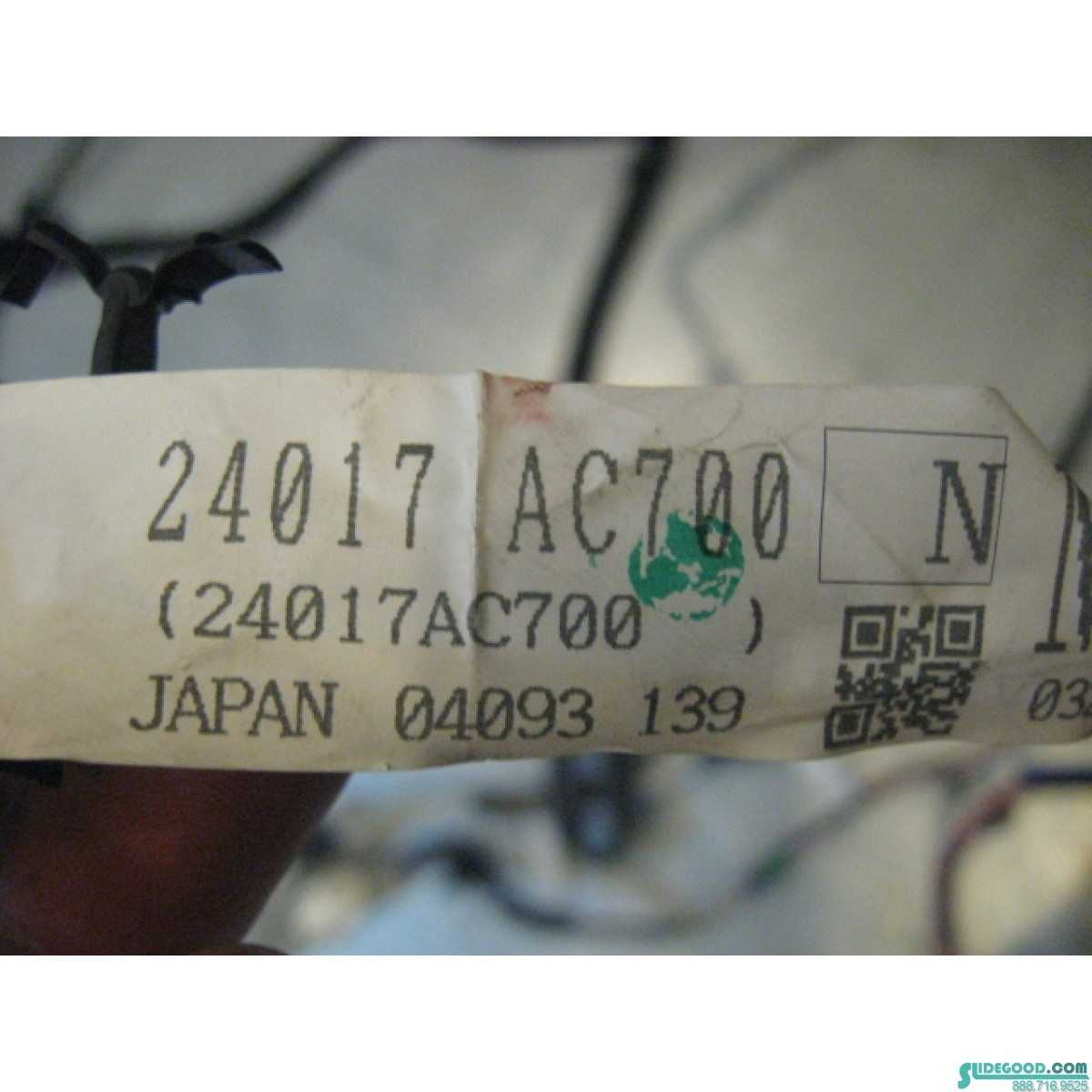 05 Infiniti G35 Sedan Body Wiring Harness 24017 Ac700 R18560 Cover